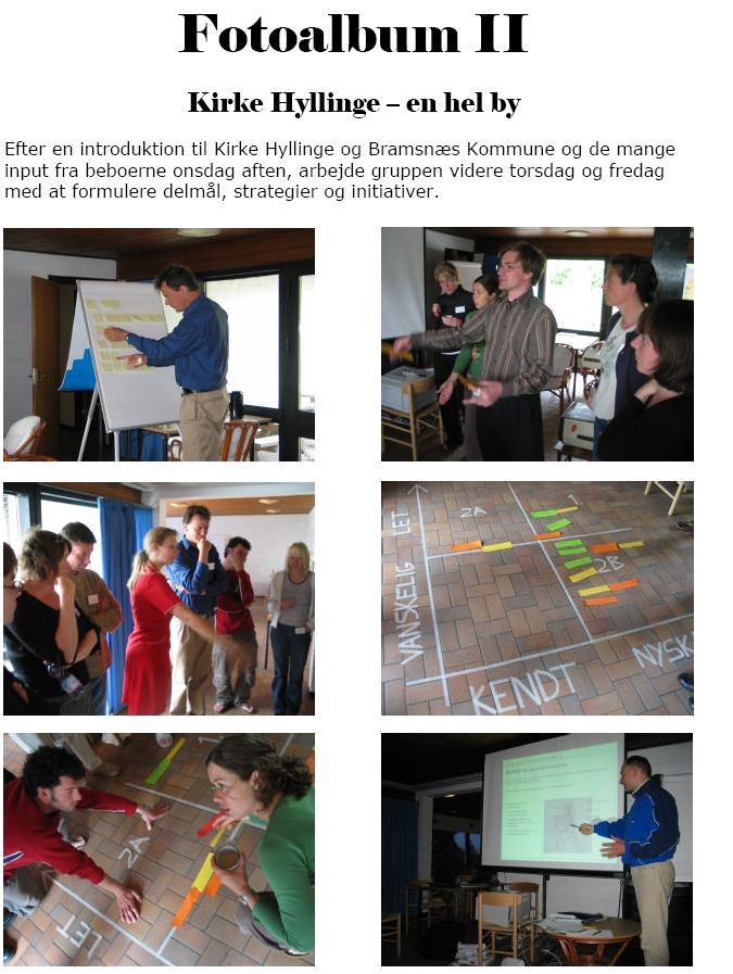 """Workshop for """"Netværk for yngre planlæggere"""" 2004"""